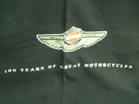 Harley Davidson blanket, 100 years of great motorcycles