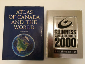 GUINNESS BOOK OF WORLD RECORDS + ATLAS - 2 for $5!!!