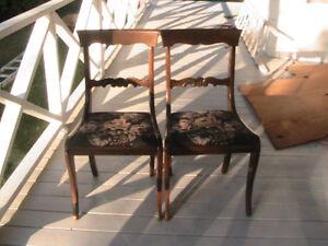 Gibbard walnut chairs