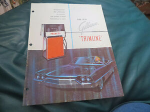 vintage gilbarco trimline gas pump brochure