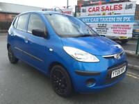 HYUNDAI i10 1.1 Classic 5DR 2008 BLUE **£30 ROAD TAX **12 MONTH MOT INCLUDED