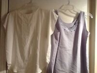Two Ladies Sheer Camisoles / Tank Tops Size Large