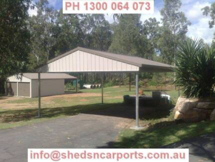 GABLE ROOF CARPORTS COLORBOND CARPORT DOUBLE CARPORT JIMBOOMBA