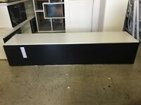 Rocco Floating TV Cabinet In White with Black Gloss Door
