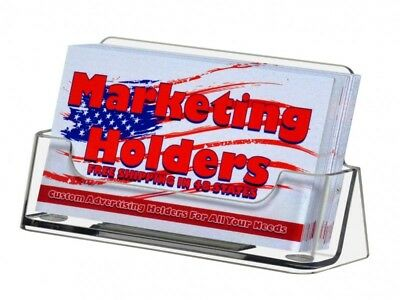 200 Business Card Display Stand Holders Ridged Non-slide Inside Clear Plastic