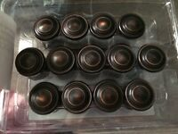 Oiled bronze cabinet knobs