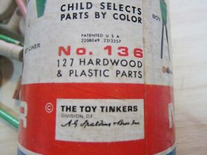 VINTAGE  ORIGINAL TINKER TOY Peterborough Peterborough Area image 3