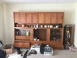 Large Teak Wall Unit FREE to a good home!