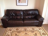 Leather sofa, couch, 3 seater