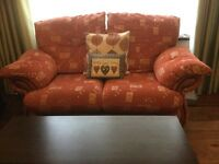Tercotta cream sofa, 3 & 2 seater, single Swivel recliner chair & footstool from Harvey's