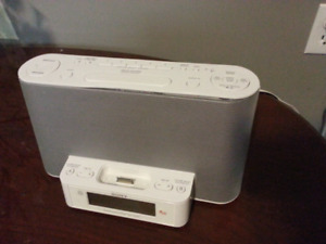 SONY AM/FM Clock Radio and Stereo with Ipod docking