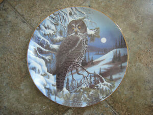 Collector Plate – Manitoba's Great Grey Owl