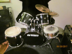 Westbury Drum Kit with Sabian Cymbals and Stands Upgraded Kick