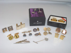 Vintage Cuff Links 13 Pcs Lot Jeff Banks England And Gold Filled