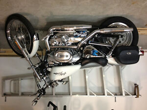 Pearl white Harley Davidson 1200 Custom for sale