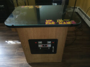 Arcade Ms. Pac-Man Cocktail Table Original 1981-82