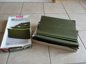 Box of 25 legal size hanging file folders NEW