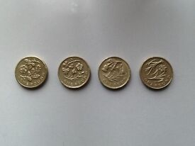 £1 coin floral set sell or trade