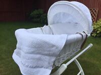 Moses basket with stand izzywhatnot