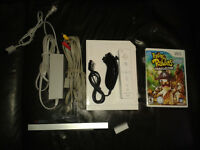 Wii avec 1 jeu, Raving rabbids Travel in time ( Mint)