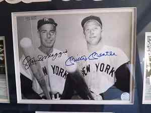Joe Dimaggio and Micky Mantle autographed picture  St. John's Newfoundland image 3