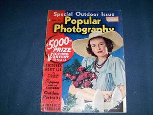 VINTAGE BACK ISSUE-POPULAR PHOTOGRAPHY MAGAZINE-JUNE 1940