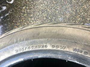 Set of 4 ---- tires 245/45/20 M+S Brand New