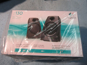 NEW Logitech Speakers Z130 Black Unopened. Computers, MP3 Player Kitchener / Waterloo Kitchener Area image 1