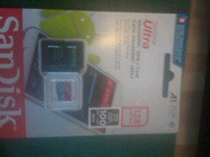128 GB SanDisk ultra SD card with adaptor
