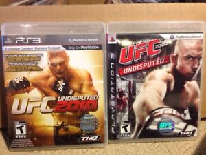 UFC UNDISPUTED PS3 GAMES $10 each