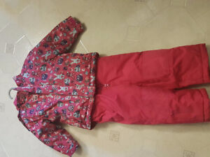 Girls Snow Jacket and Ski Pants - 18-24 months