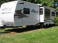 For Rent on Vancouver Island.  30 Ft Cougar Trailer,