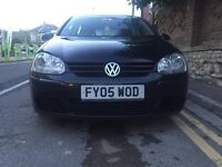 2005 Black Golf 1.9 TDI sport, 4 door, manual, alloys, CD, FSH lovely car