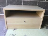 Wooden TV cabinet (beech coloured)
