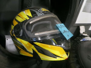 2 new motorcycle helmets both yellow $149.00 each firm