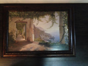 Framed picture 3.5 ft long x 2.5 ft wide
