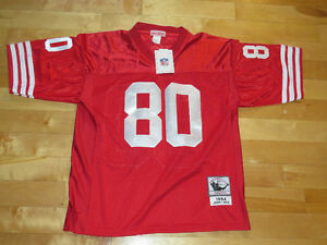 JERRY RICE THROWBACK 49ERS NFL JERSEY    SIZE LARGE