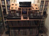Giraffe customised DJ stand for vinyl pioneer cd decks plus space for 100s vinyl.