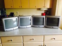 4 13 inch color TV's