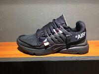 Hyperbeast Nike off white triple black prestos