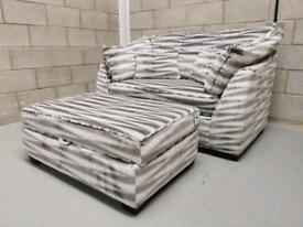 Barker & Stonehouse Borelly Large Snuggler & Storage Footstool