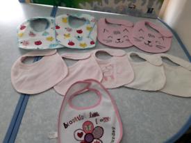 Bundle baby girls bibs