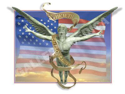 Patriotic Chiropractic Chiropractor Flag Poster Print