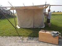 camping primative canvas tent  [ baker style}