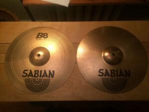 "Cymbale Hi Hat Sabian B8 14"""
