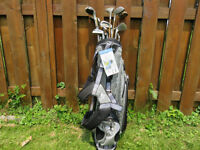 Brand New Dunlop Golf Bag with used golf clubs & balls
