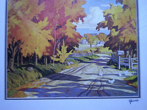 """Full Signature  A.J.Casson """"Country Road"""" Print Kitchener / Waterloo Kitchener Area image 7"""