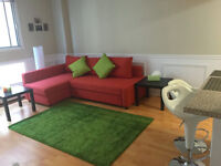 Subletting a furnished studio in downtown Montreal ****