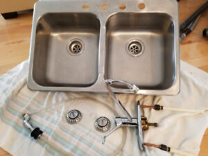 Kitchen sink and Moen taps
