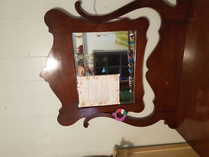 Antique dresser and dble 4 poster bed